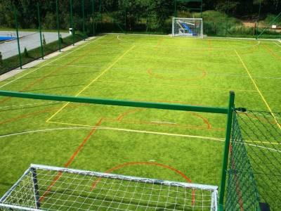 Zielony orlik do gry w piłkę nożną
