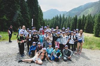 Wycieczka w góry, zdjęcie grupowe